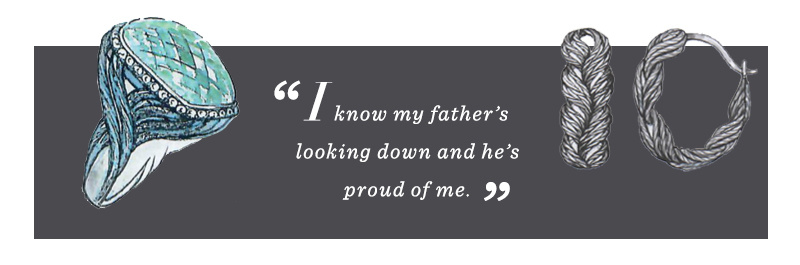 """I know my father's looking down and he's proud of me."""