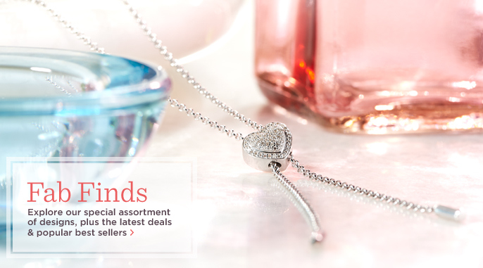 Affinity(R) Diamond Heart Sterling Lariat Necklace