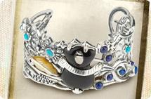 Fritz Casuse sterling multi-gemstone cuff