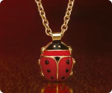 VicenzaGold(R) 14K Gold Ladybug Pendant