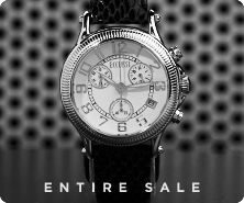Ecclissi sterling chronograph snakeskin-embossed strap watch