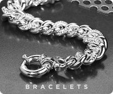 Sterling crystal curb link bracelet