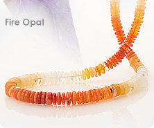 Colors of fire opal bead necklace