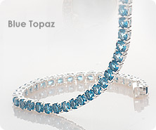 Sterling round gemstone tennis bracelet