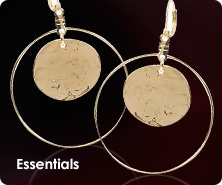 Kenneth Jay Lane hammered disc circle earrings