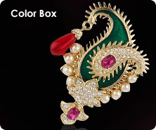 Kenneth Jay Lane enamel Maharani brooch