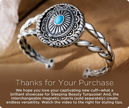 American West Sterling Sleeping Beauty Turquoise Cuff