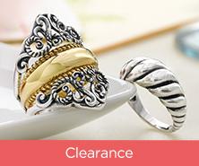Carolyn Pollack Sterling & Brass Signature Design Ring Set