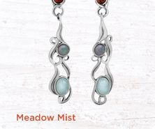 Carolyn Pollack Meadow Mist sterling earrings