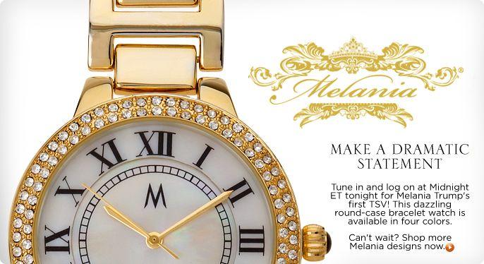 Melania Trump Tower Round-case Bracelet Watch