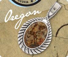 Sterling oval jasper roped texture enhancer