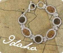 Sterling multi-gemstone toggle bracelet