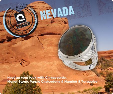 Sterling Nevada gemstone bold oval ring