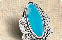 Sterling bold Kingman turquoise ring