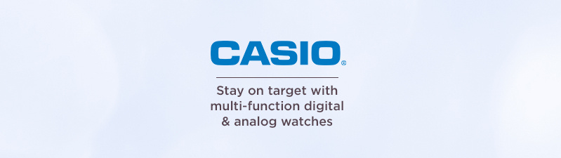 Casio Stay on target with multi-function digital & analog watches
