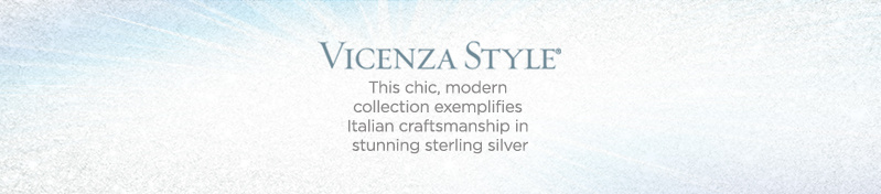 Vicenza, This chic, modern collection exemplifies Italian craftsmanship in stunning sterling silver