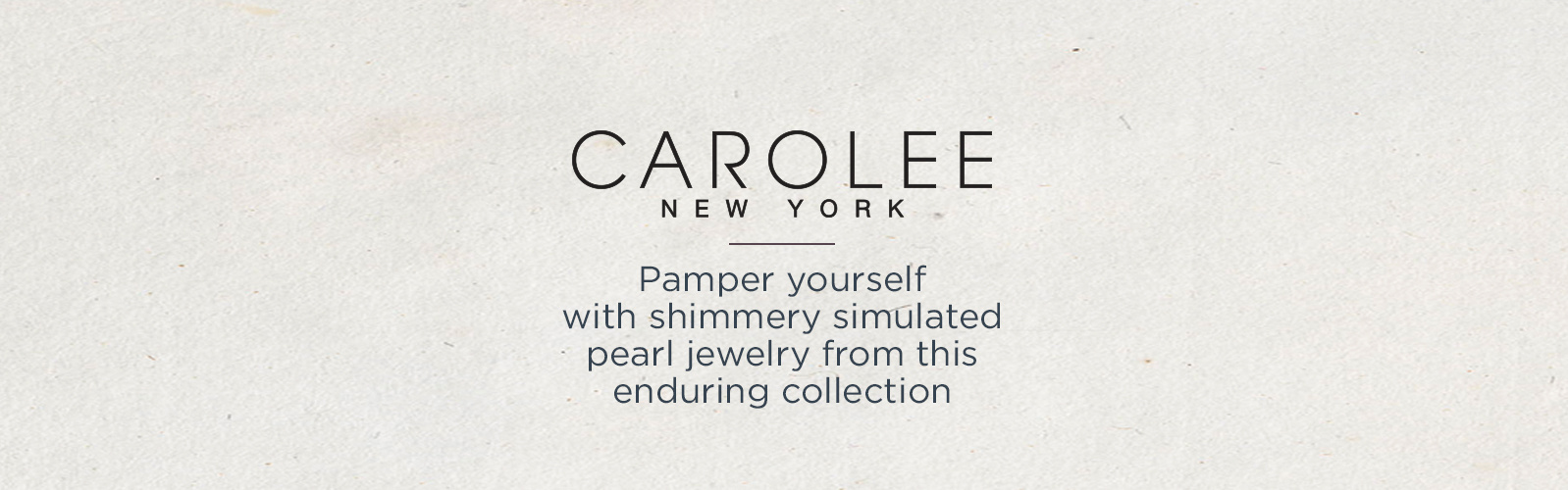 Carolee Pamper yourself with shimmery simulated pearl jewelry from this enduring collection