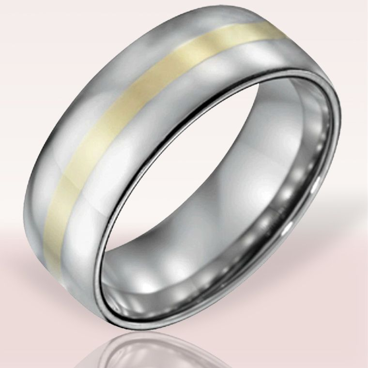 Bridal Wedding Bands Decorative Bands Stainless Steel Chain//Black IP-plated Brushed and Polished 10mm Band Size 10.5