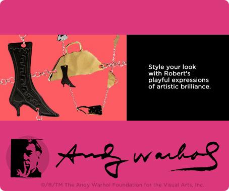 Andy Warhol by RLM Studio sterling & brass station necklace