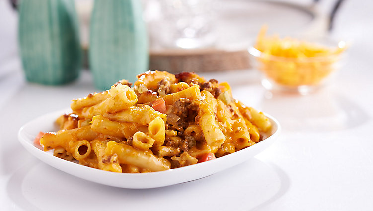 Bacon Cheeseburger Baked Ziti