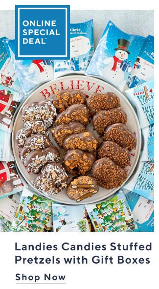 Online Special Deal*  Landies Candies Stuffed Pretzels with Gift Boxes Shop Now