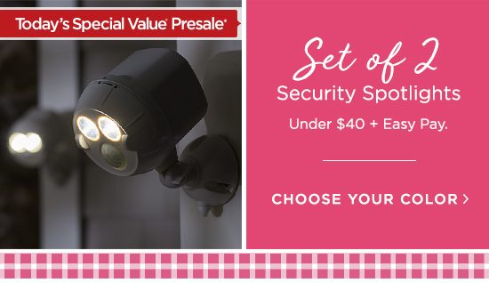 Set of 2 Security Spotlights