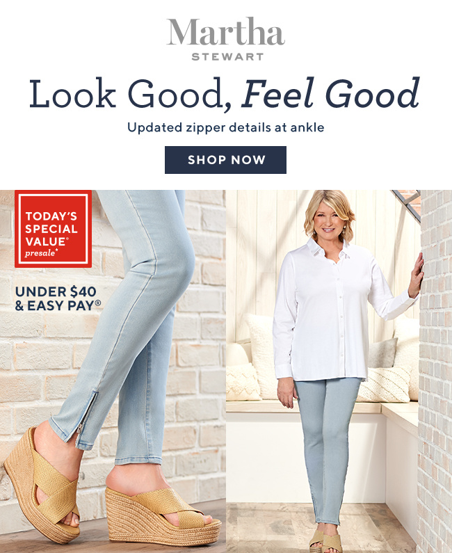 Look Good, Feel Good Updated zipper details at ankle SHOP NOW TSV(R) Presale* Under $40 & Easy Pay(R)