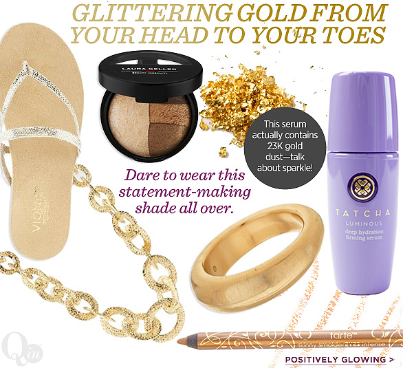 Glittering Gold from Your Head to Your Toes
