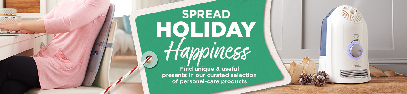 Spread Holiday Happiness.  Find unique & useful presents in our curated selection of personal-care products.