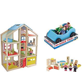 Melissa & Doug High-Rise Dollhouse and Car
