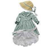 The Queens Treasures Little House 18 Doll Calico Dress - T129003
