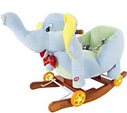 Happy Trails Rocking Elephant 2-in-1 Rockers &Wheels - T128305