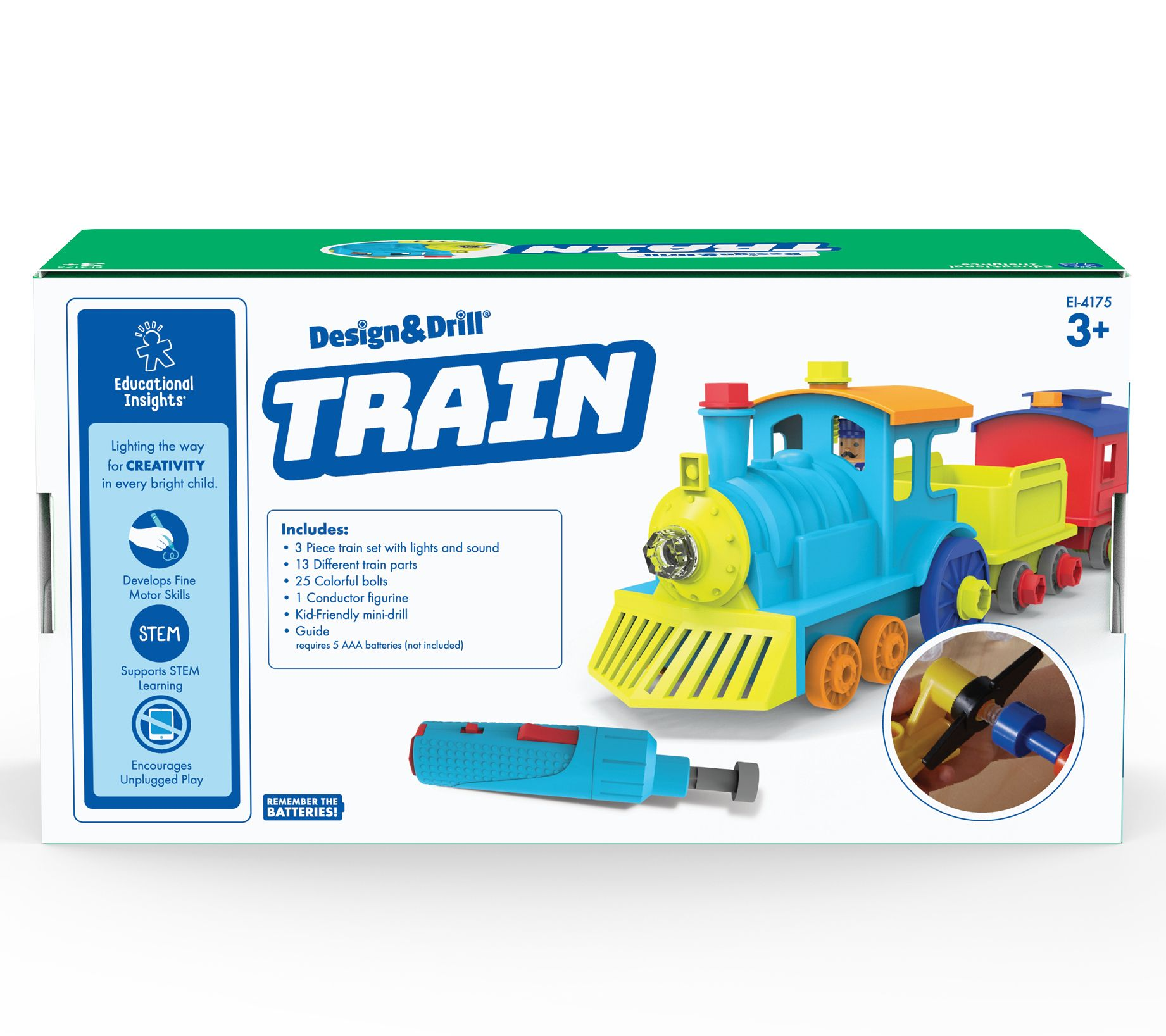 Educational Insights Design & Drill Train — QVC.com