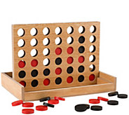 Hey! Play! Classic Wooden Four-in-a-Row Game - T128617
