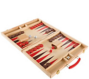 Hey! Play! Wood Backgammon Board Game - T129017