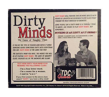 TDC Games Dirty Minds Game — QVC com