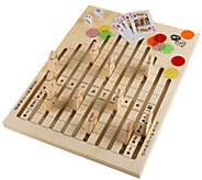 Hey! Play! Wooden Horse Race Game with Dice, Cards & Chips - T128621