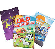Set of 3 Storybook Plush Pillow Childrens Read Along Classics - T35225