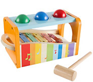 Hey! Play! Wooden Bench Toy with Musical Xylophone - T128727
