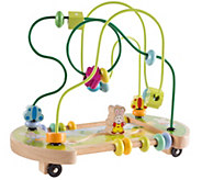 Hey! Play! Wooden Maze Toy with Interactive Beads - T128729