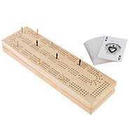 Hey! Play! Wood Cribbage Board Game Set - T128631