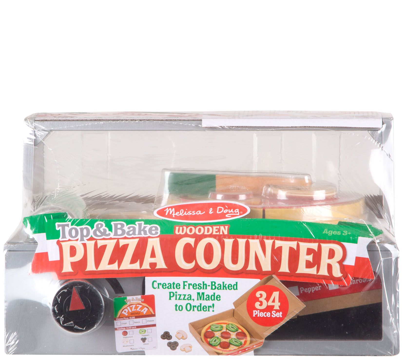 Melissa Doug Top Bake Pizza Counter Qvc Com