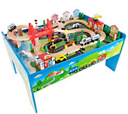 Hey! Play! Wooden Train Set Table - T128641