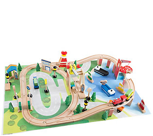 Hey! Play! Wooden Train Set with Play