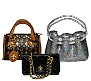 The Queens Treasures 18 Doll Set of 3 Designer Handbags - T129043