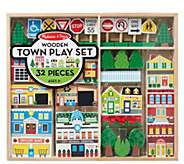 Melissa & Doug Wooden Town Play Set - T127745