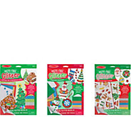 Melissa & Doug Holiday Lets Play Mess-Free Glitter Bundle - T128055
