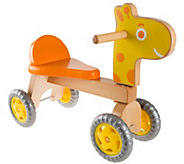 Hey! Play! Walk & Ride Wooden Giraffe Balance Bike - T128659