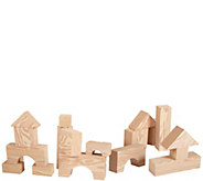 Edushape 32-Piece Big Edu-Foam Wood-Like Blocks - T128959