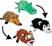 Flip Pets Set of Two 2-in-1 Plush Animal Buddies - T34960